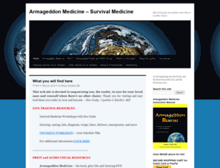 armageddonmedicine.net screenshot