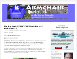 armchairquarterback.bloginky.com screenshot