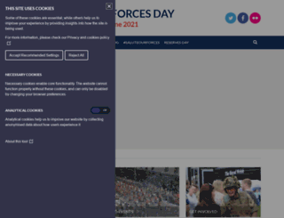 armedforcesday.org.uk screenshot