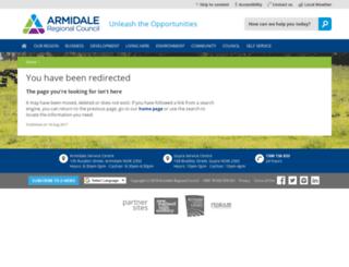armidale.nsw.gov.au screenshot