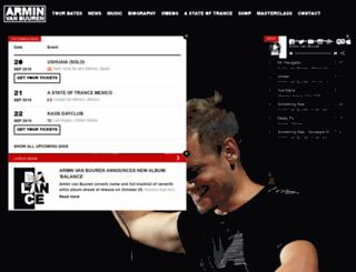 armin.armadamusic.com screenshot