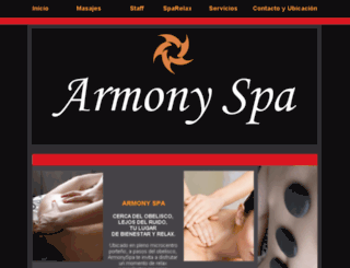 armonyspa.com.ar screenshot