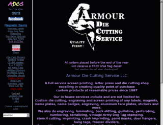 armourdiecutting.com screenshot