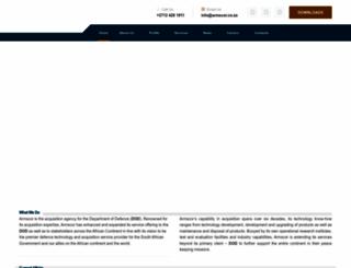 armscor.co.za screenshot