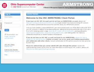 armstrong.osc.edu screenshot