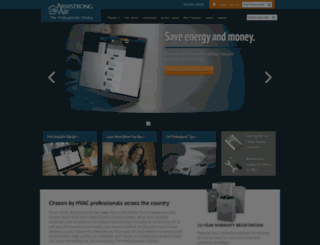 armstrongair.com screenshot