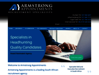 armstrongappointments.com screenshot