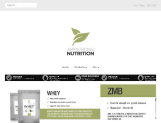 armstrongnutrition.co.uk screenshot
