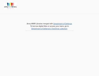 army.libraryreserve.com screenshot