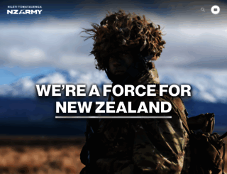 army.mil.nz screenshot