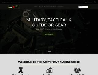 armynavymarinestore.com screenshot