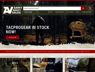 armynavysales.com screenshot