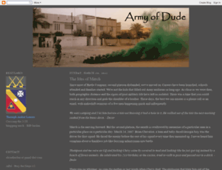 armyofdude.blogspot.com screenshot