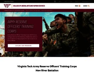 armyrotc.vt.edu screenshot