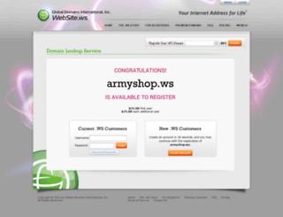 armyshop.ws screenshot