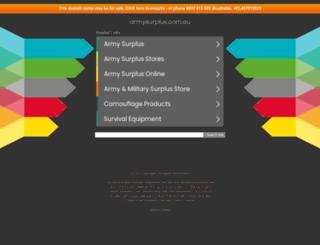 armysurplus.com.au screenshot