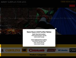 armysurplusforless.com screenshot