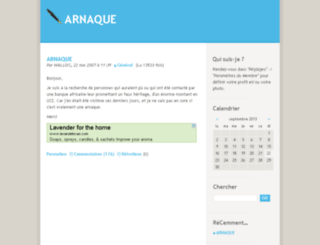 arnaque.kouaa-blog.com screenshot