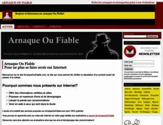 arnaqueoufiable.com screenshot
