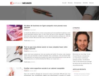 arnaudmeunier.com screenshot