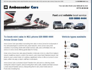 arnosgrovecars.co.uk screenshot