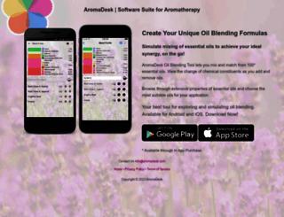 aromadesk.com screenshot