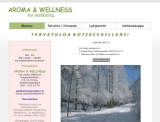 aromawellness.fi screenshot