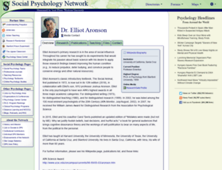 aronson.socialpsychology.org screenshot