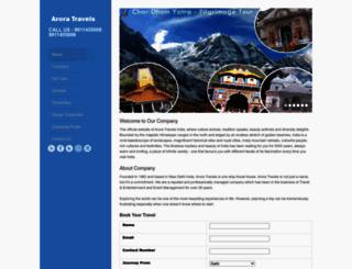 aroratravels.net screenshot