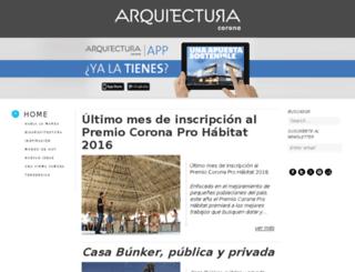 arquitectura.corona.co screenshot