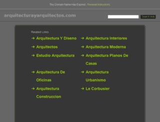 arquitecturayarquitectos.com screenshot