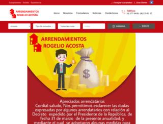 arrendamientosrogelioacosta.com screenshot