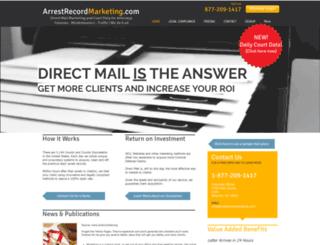 arrestrecordmarketing.com screenshot