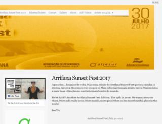 arrifanasunsetfest.com screenshot