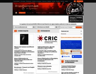 arrondissement.com screenshot