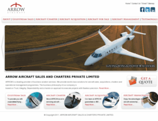 arrowcharters.com screenshot