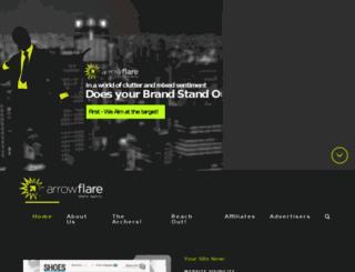 arrowflare.com screenshot