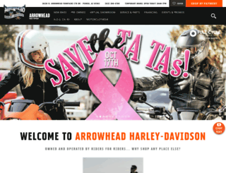 arrowheadharley.com screenshot