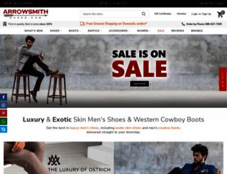 arrowsmithshoes.com screenshot