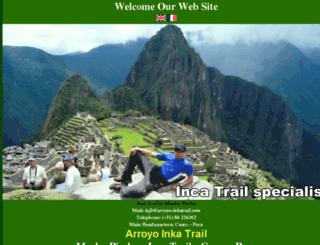 arroyo-inkatrail.com screenshot