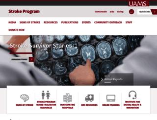 arsaves.uams.edu screenshot