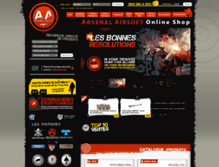 arsenal-airsoft.com screenshot