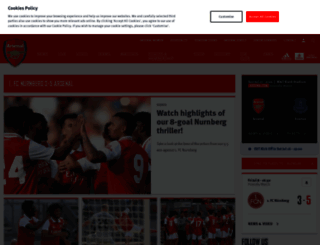 arsenal.com screenshot