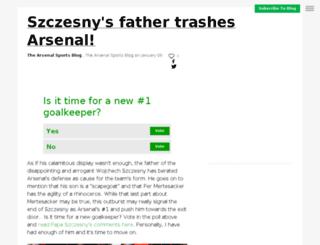 arsenal.sportsblog.com screenshot