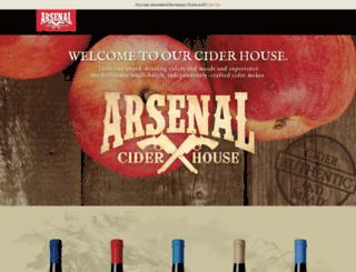 arsenalciderhouse.com screenshot