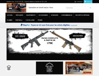 arsenalguns.fr screenshot