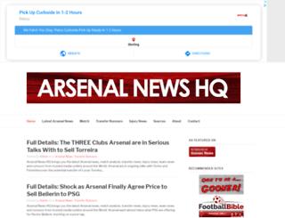 arsenalnewshq.com screenshot