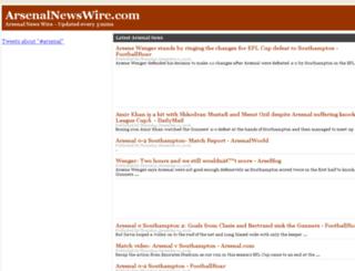 arsenalnewswire.com screenshot