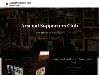 arsenalsupportersclub.co.uk screenshot