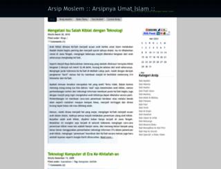 arsipmoslem.wordpress.com screenshot